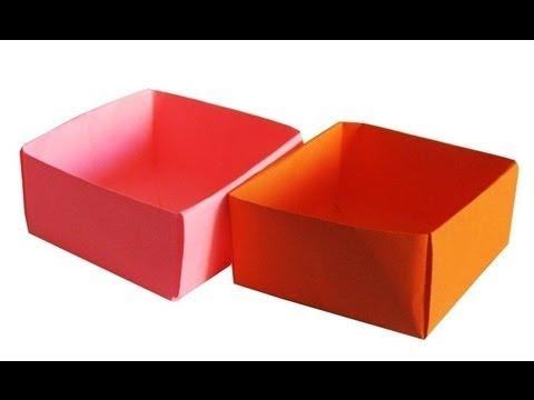 видео: Поделки с детьми! Как сделать коробочку оригами. Коробка из бумаги.