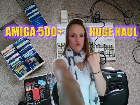Huge Amiga 500+ console & game haul
