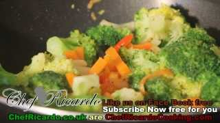 Broccoli & Carrot With Fry Up Vegetarian Recipe