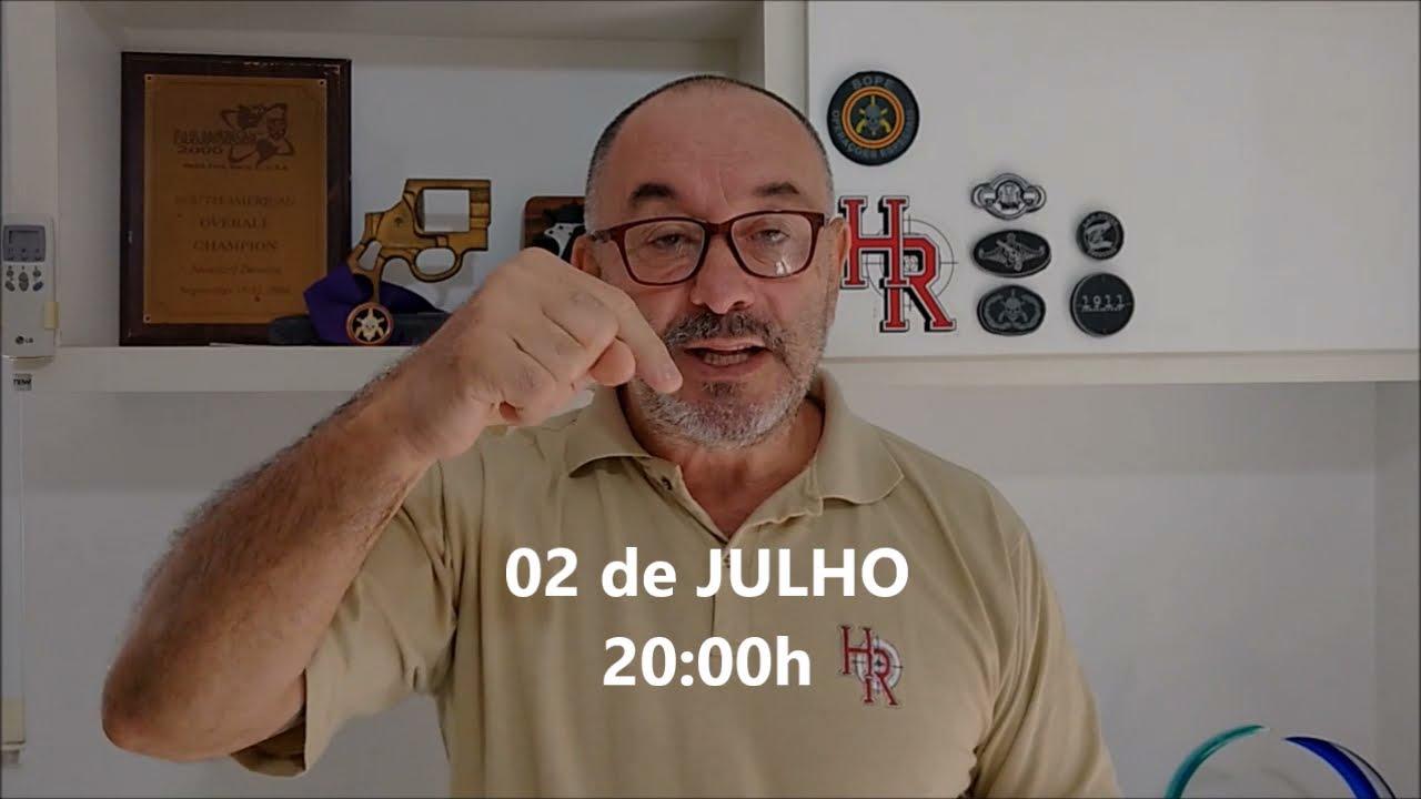 """VOCÊ SE SENTE SEGURO? VOCÊ PORTA ARMA DE FOGO? SENSAÇÃO DE SEGURANÇA - DICAS   """"LIVE"""" 02/JULHO - 20h"""