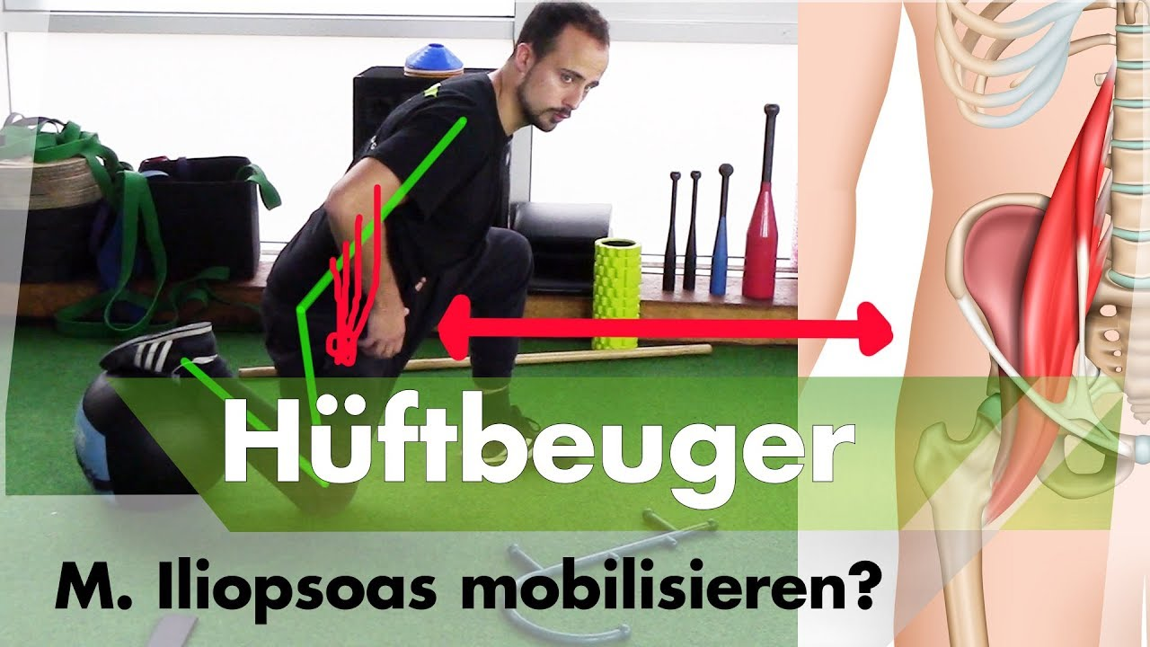 Top 3+1 Hüftbeuger Mobilisationen | Der M. iliopsoas - YouTube