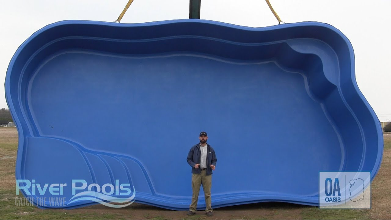 Best Freeform Fiberglass Pool Oasis By River Pools Youtube