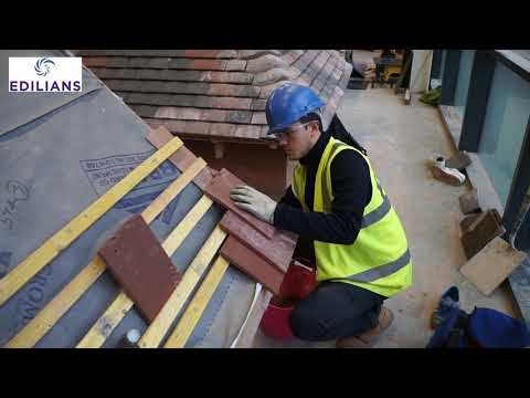 Leeds College of Building roof tile installation training