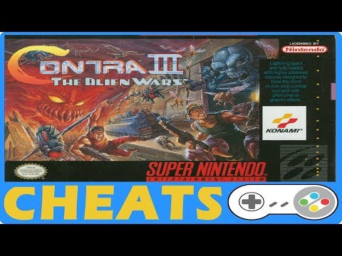 Contra III The Alien Wars (SNES) Cheats + Action Replay + Game Genie Codes