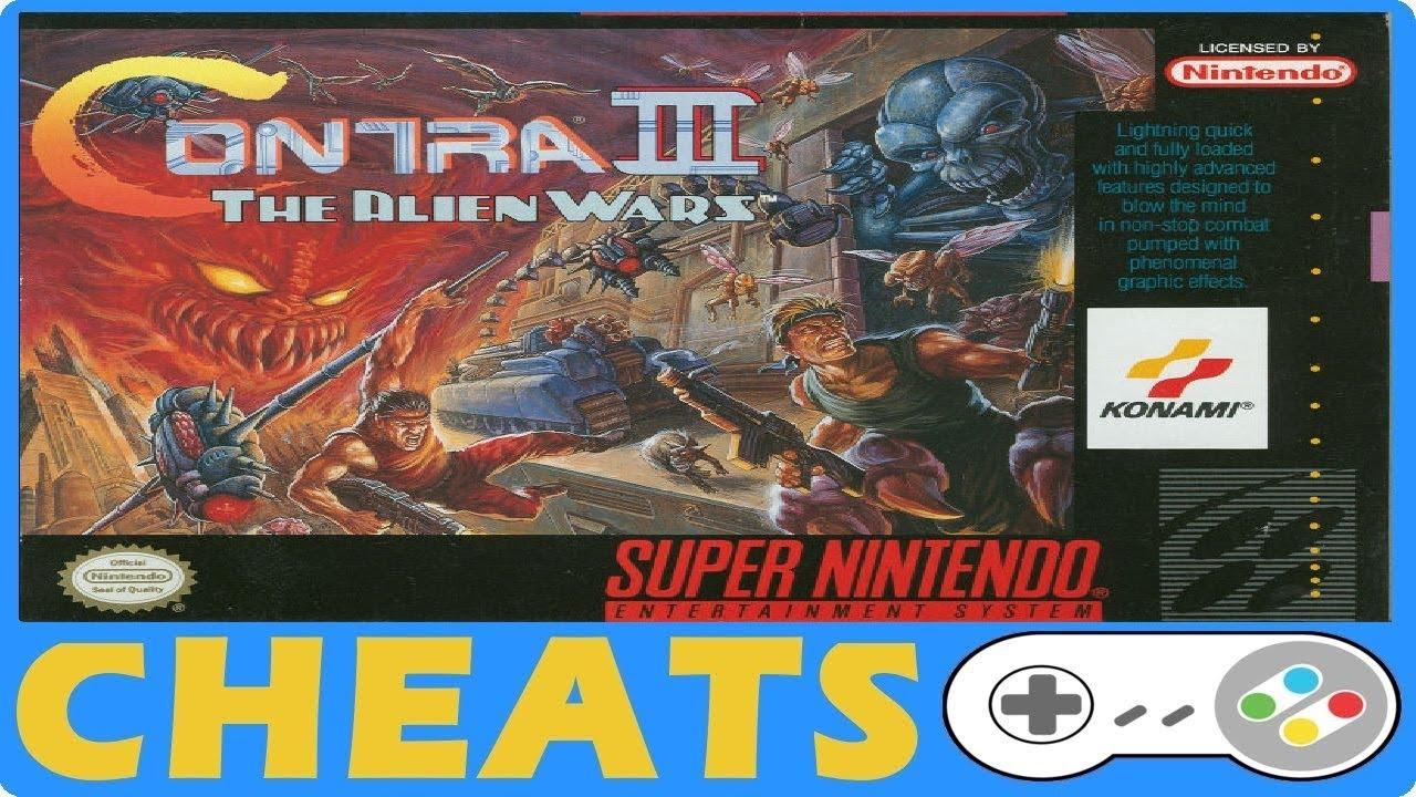 <b>Contra</b> III The Alien Wars (SNES) Cheats + Action Replay + <b>Game</b> ...