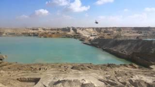 مشهد للحفر فى 15يناير