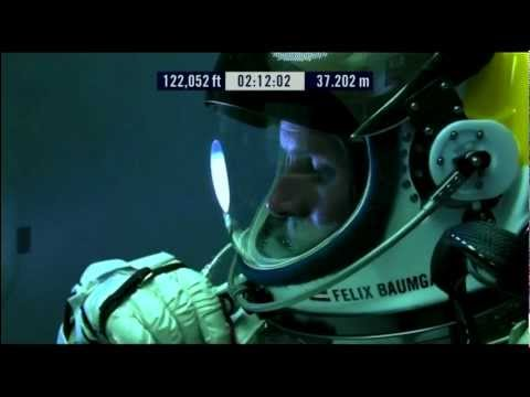 Red Bull Stratos - Space Jump LIVE Stream Video [FULL] - Fel