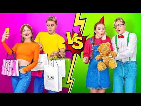 HIGH SCHOOL YOU VS CHILD YOU || Types Of Students In School by 123 GO!