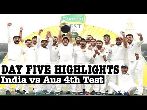 India Vs Australia 4th Test 5th Day Full Match Highlights |FOURTH DOMAIN TEST HIGHLIGHTS