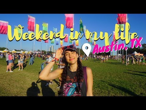 A WEEKEND IN MY LIFE! Austin City Limits Festival Live Footage