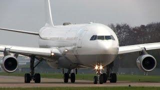 ᴴᴰ ✈ German EBOLA-JET - A340-313 D-AIGZ - CLOSE TAKEOFF
