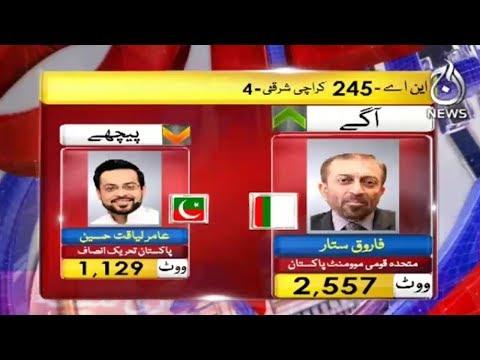 Karachi Se MQM Agay PTI Pechay | 25 July 2018 | Aaj News