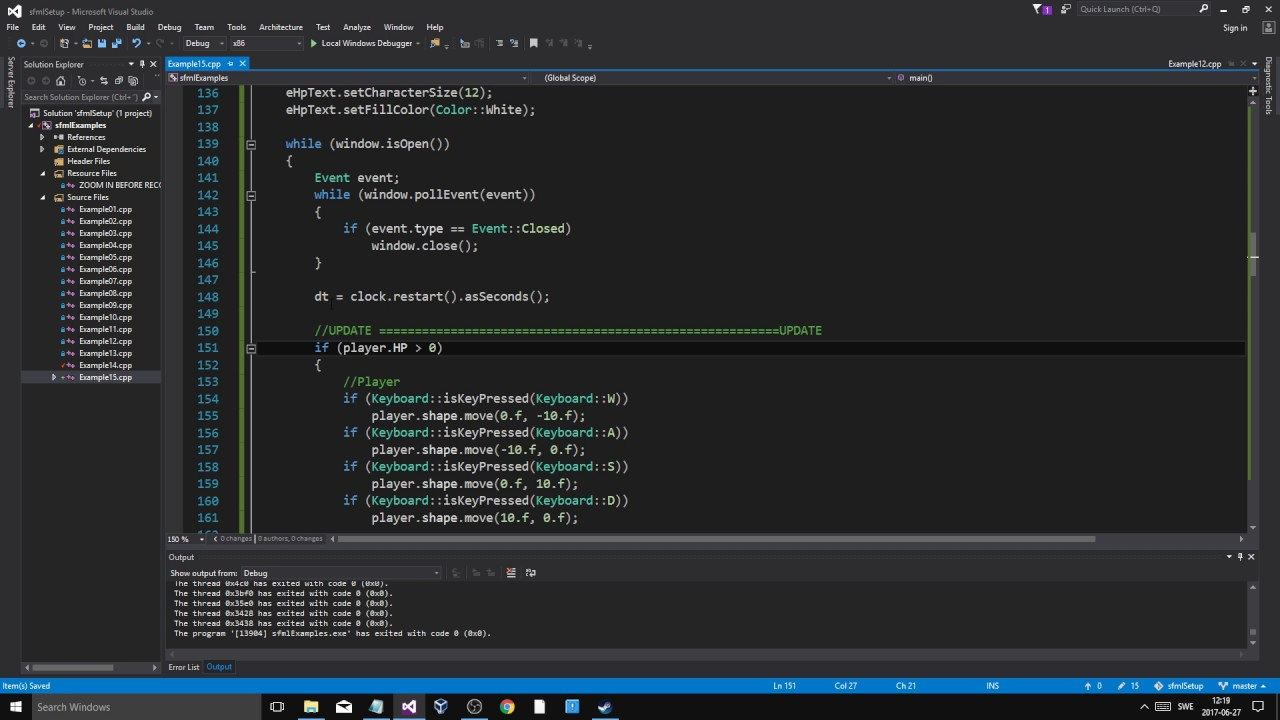 SFML C++ Tutorial 15 | Framerate independence  Converting our game from  example 12  (IMPORTANT!)