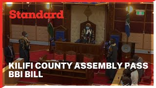 Kilifi passes the BBI Bill becoming the last County in the Coast region to adopt the bill