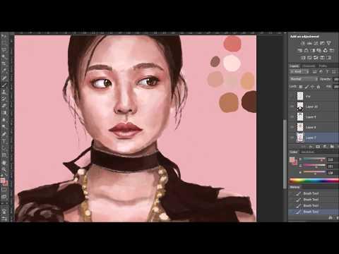 JENNIE BLACKPINK-Digital Portrait in Photoshop (Speed Painting)