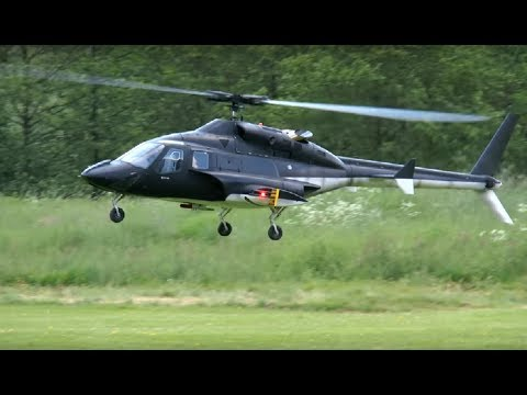 Airwolf Helicopter RC Scale Turbine Flameout Crash - YouTube