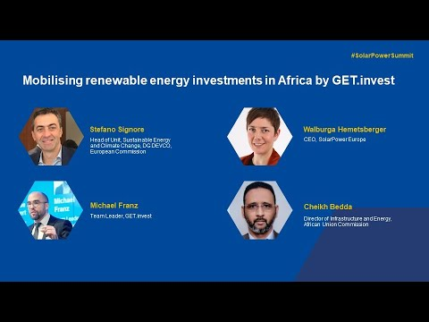 Welcome speeches + Mobilising renewable energy investments in Africa by GET.invest