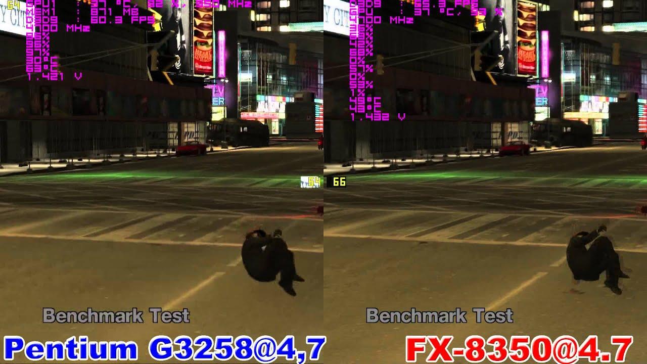 Pentium G3258 vs FX 8350 in Grand Theft Auto IV (GTX 970)
