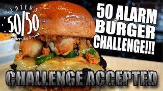50 ALARM BURGER CHALLENGE | Slater's 50/50