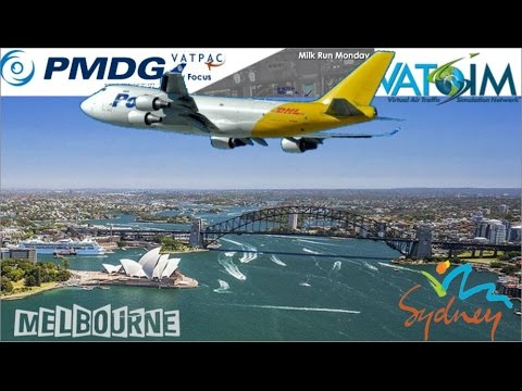 PMDG 747-400 Freighter on Vatsim - Milkrun Monday