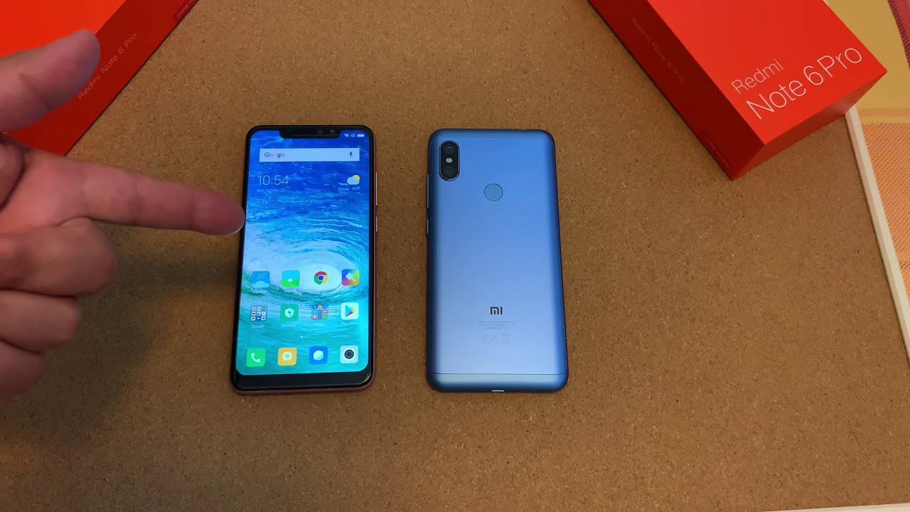 redmi note 6 pro blue version first look its mine or is it youtube