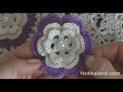 Crochet Flower Tutorial For Beginners Very Easy Youtube
