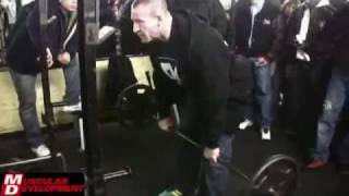 Dorian Yates demonstrating bent over Barbell Row
