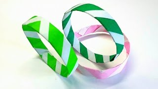 Origami Tutorial - How to fold an Easy paper Origami Bracelet
