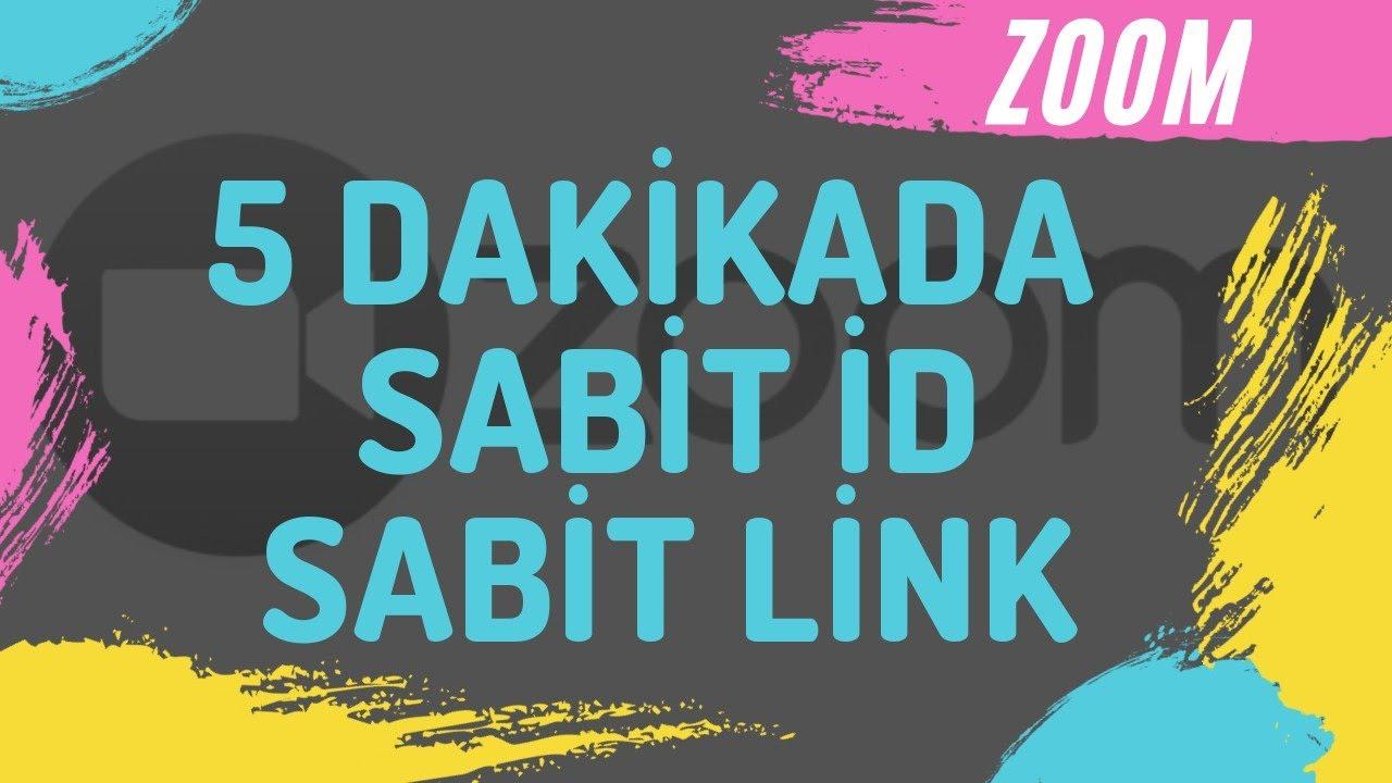 5 Dakikada Zoom Programında Sabit Link ve Sabit ID Oluşturma