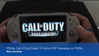 PSVita: Call of Duty Roads to Victory PSP Game on PSVita
