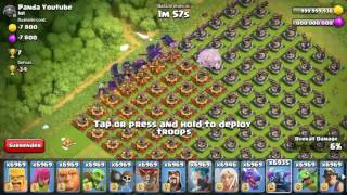 300 Xbows Vs 1000 Max Pekka   COC Private Server  Clash Of Clans Hack   Glitch 2017 Unlimited Troops