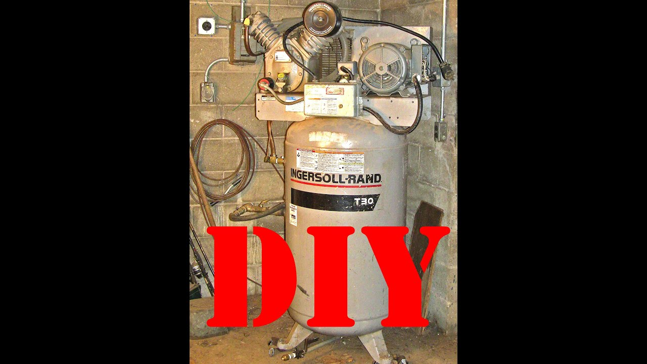 ingersol rand t30 2475n7 5 project air compressor youtube rh youtube com Ingersoll Rand Compressor Parts Catalog Ingersoll Rand Compressor Parts