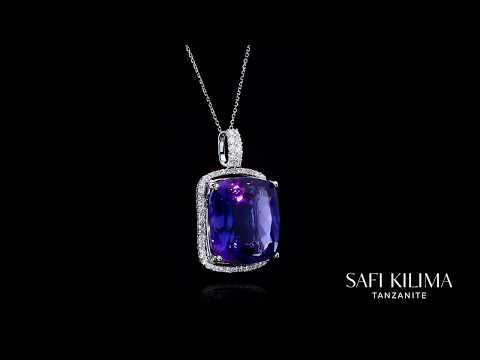 Safi Kilima Tanzanite Large Cushion Pendant