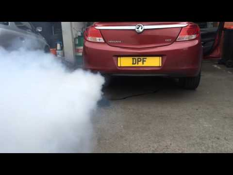 Vauxhall Insignia DPF regeneration after cleaning procedure at www