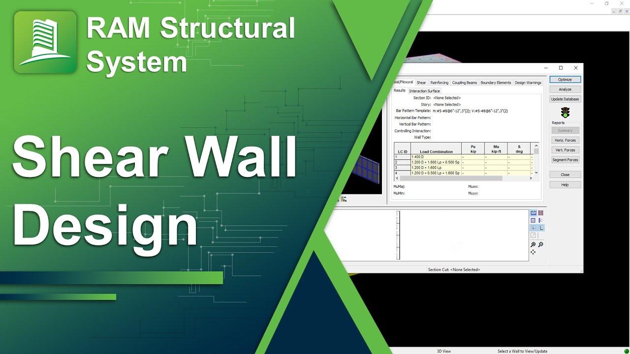 Wall Design Etabs : Shear wall design with ram