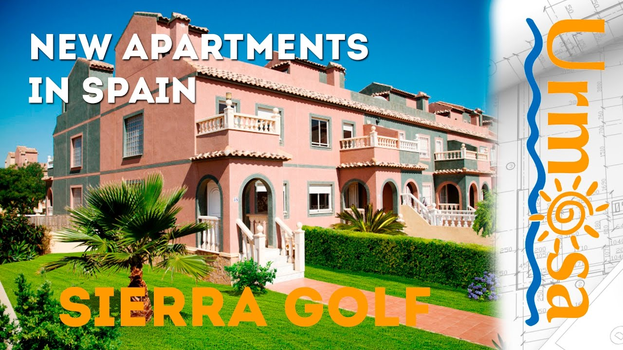 new apartments in spain, on golf course at costa calida, sierra