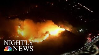 Southern California Wildfire Brings Mass Evacuations, Jammed Freeways | NBC Nightly News