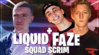 FaZe + Liquid Squad Scrim - Ft. Tfue, Cloakzy and Symfuhny!