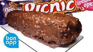 Мега Picnic  Как приготовить батончик Пикник  Picnic с грецким орехом