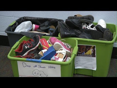 Shoe Drive at Dodgen Middle School