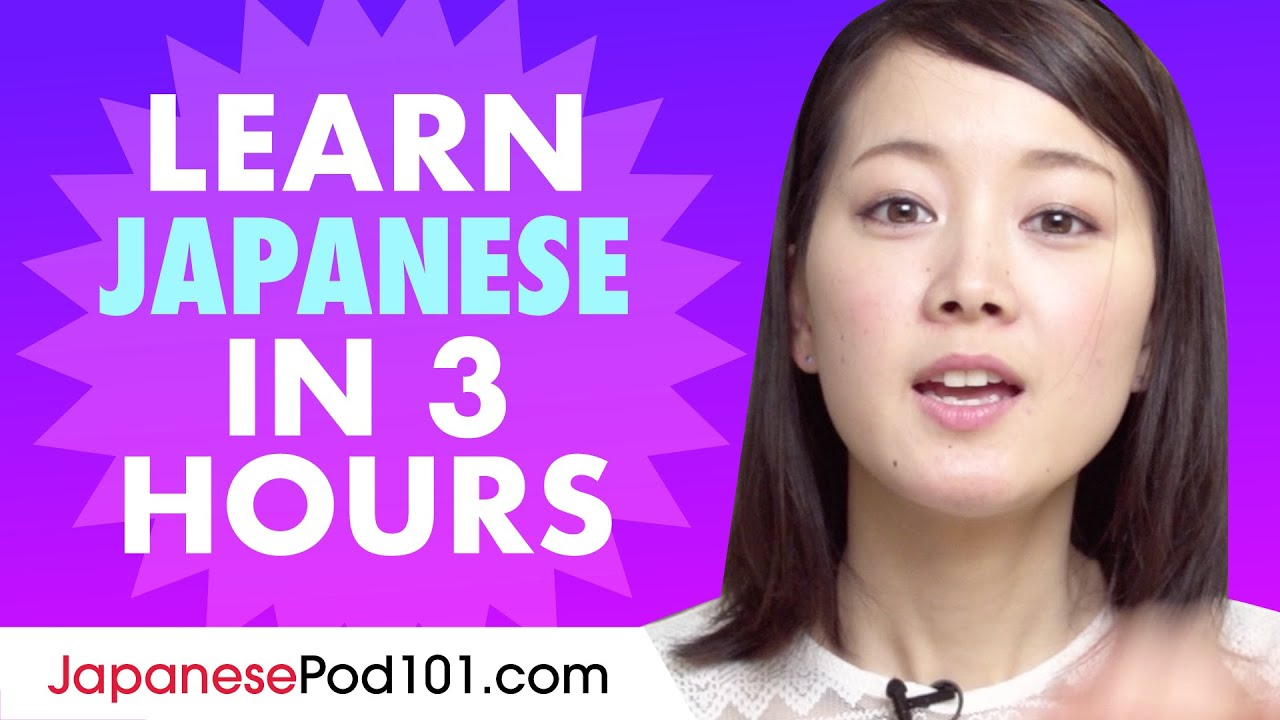 Learn Japanese in 3 hours - ALL the Japanese Basics You Need in 2020