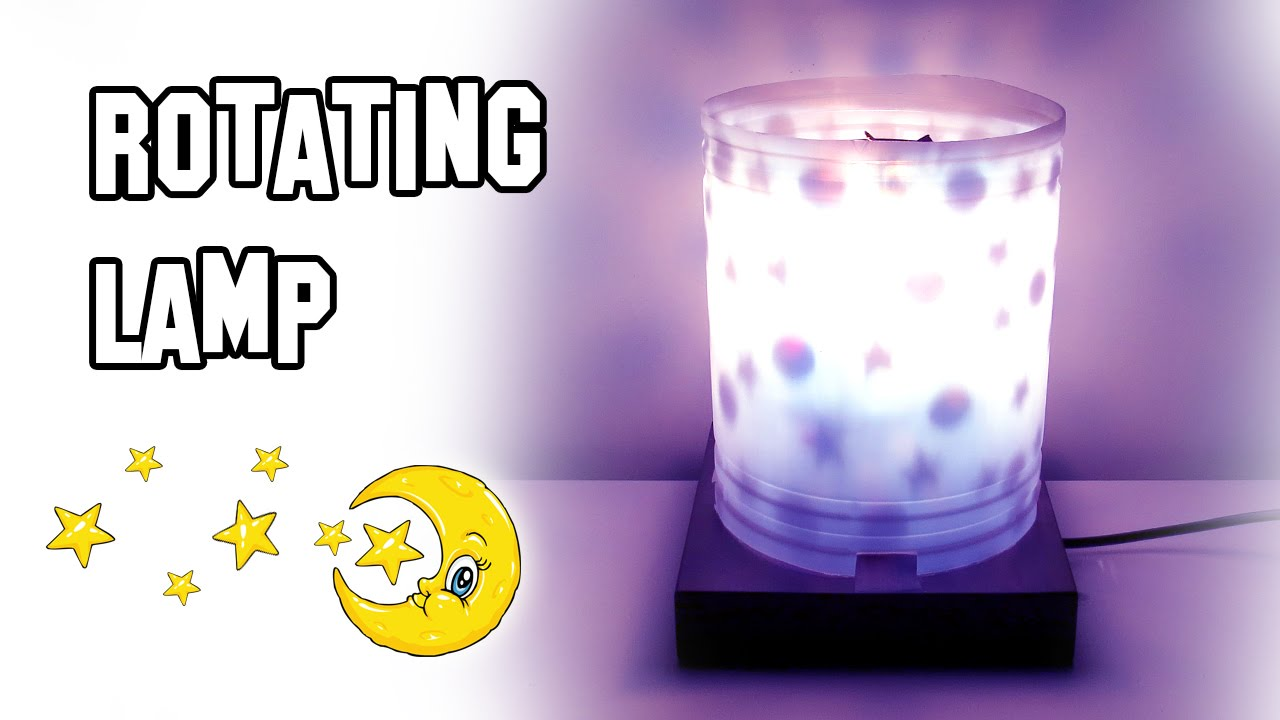 ✓ How To Make Rotating Lamp - YouTube for How To Make A Spinning Lamp  56mzq