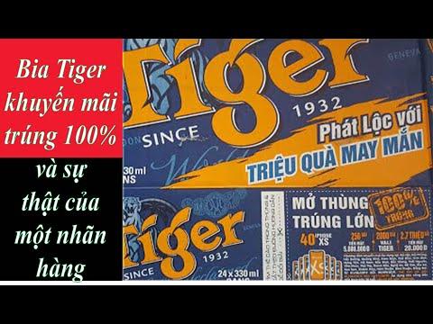 Bia Tiger khuyến mãi trúng 100% sự thật của một nhãn hàng
