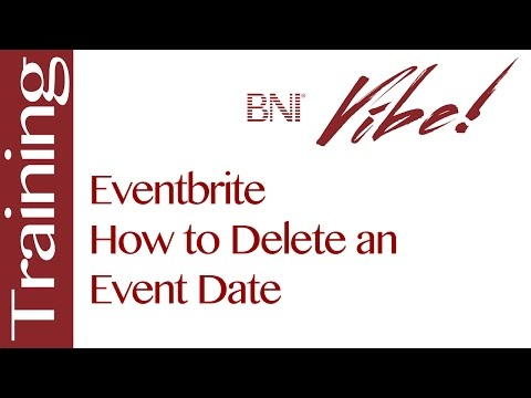 Eventbrite – How to Delete an Event Date Mp3