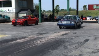 ROLL RACING at the DRAG STRIP - Street Car Takeover