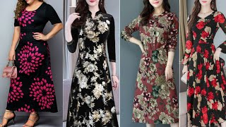 Top Trendy Ideas Formal Dress 2020 /New Midi Dress Style Long Sleeves And Floral Printed Ideas 2020