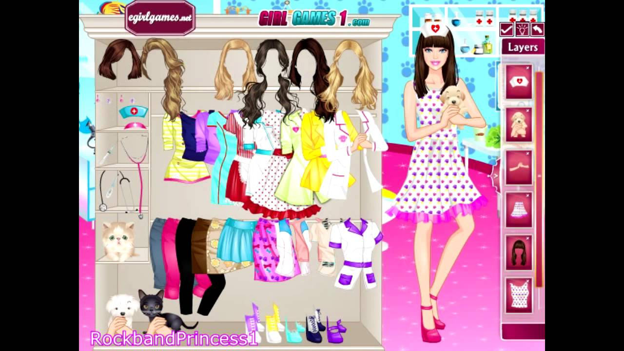 Barbie Games Barbie Pet Doctor Dress Up Game Youtube