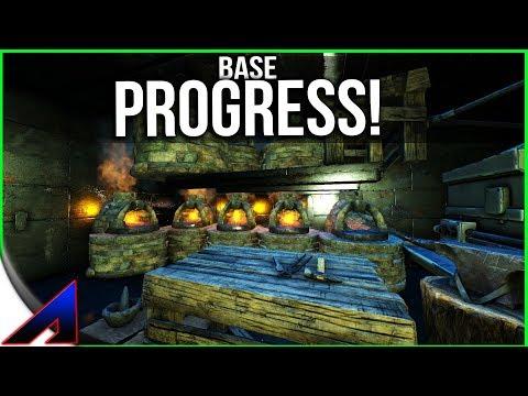 Base Progress!   Solo Official PvP Servers   ARK: Survival Evolved   Ep 85