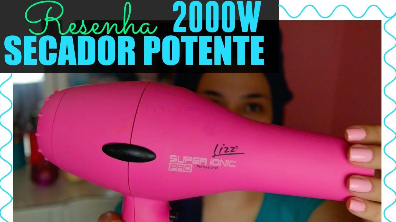 Secador profissional de cabelo Super Ionic Lizz resenha - YouTube 76a083dc7f33