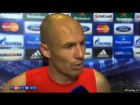 Bayern Munich 3-1 Manchester United - Arjen Robben Interview 4-2 09/04/14